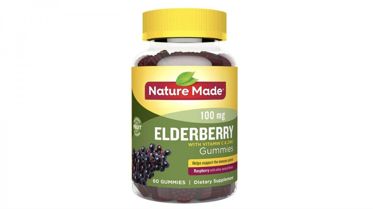 a bottle of elderberry dummies