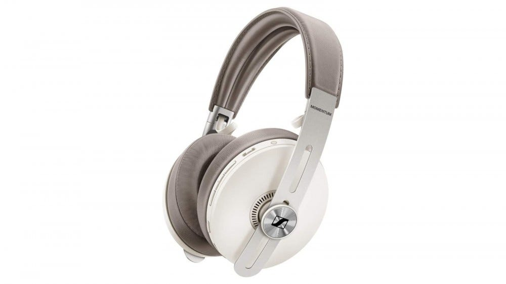 The Sennheiser Momentum 3 wireless headphones.