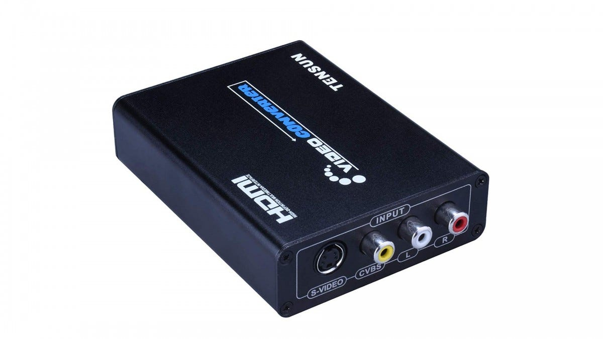 The Tensun HDMI converter box.
