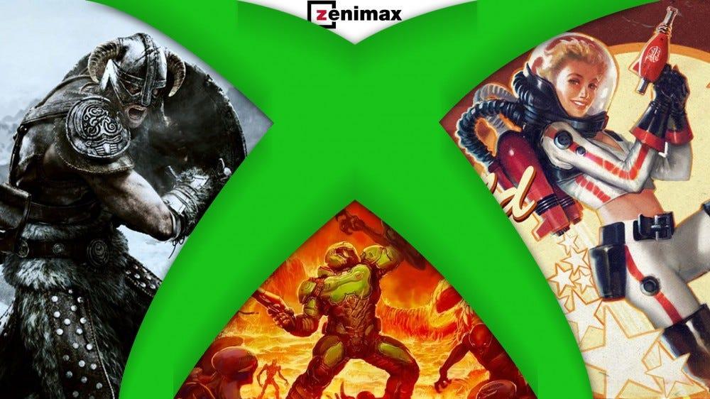 Xbox logo and Bethesda games, Zenimax logo