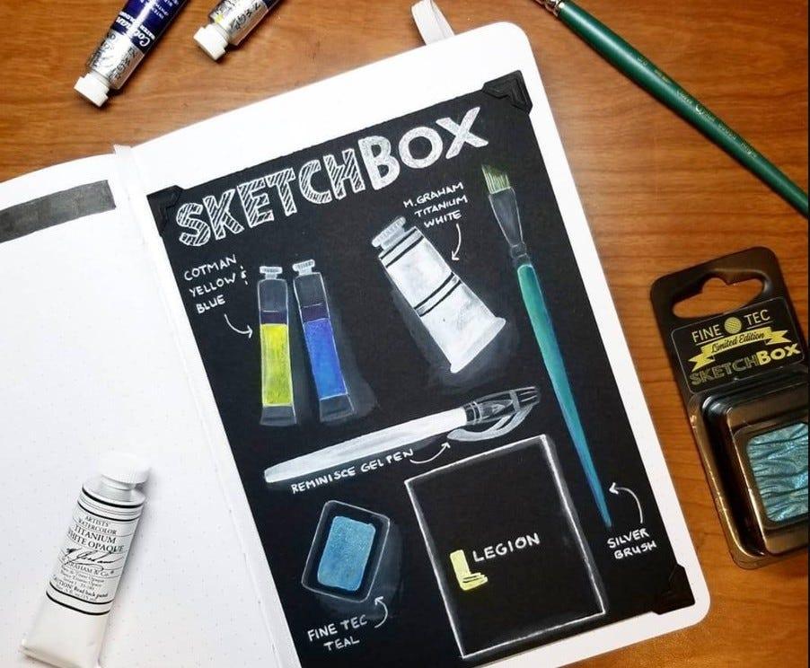 SketchBox art supply subscription box beginner artist
