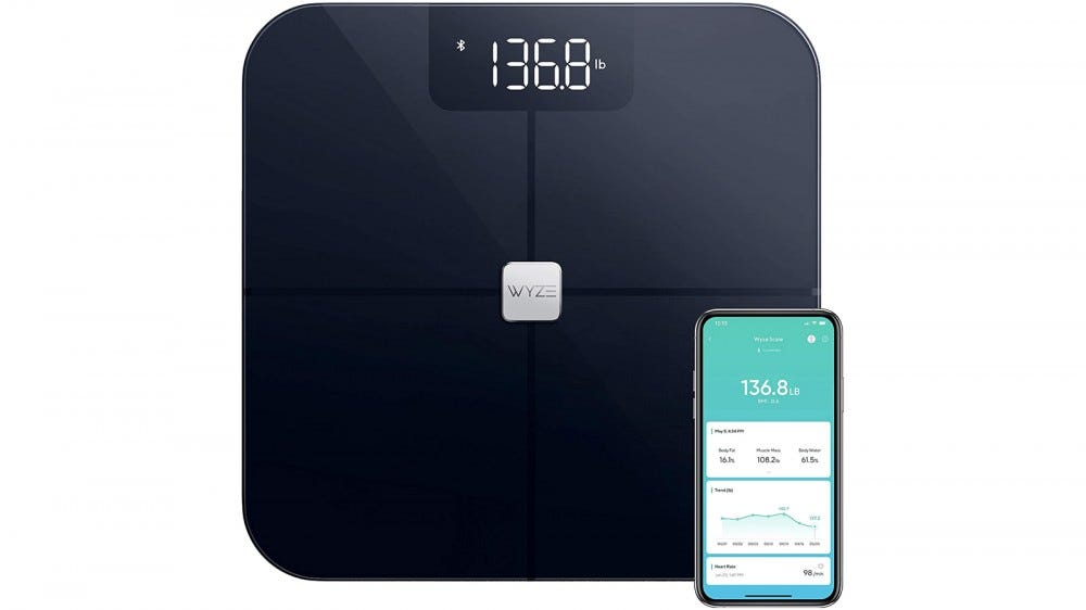 Wyze Scale best smart scale for Father's Day 2020 track and analyze body measurements BMI bone mass heart rate syncs with Apple Health syncs with Google Fit
