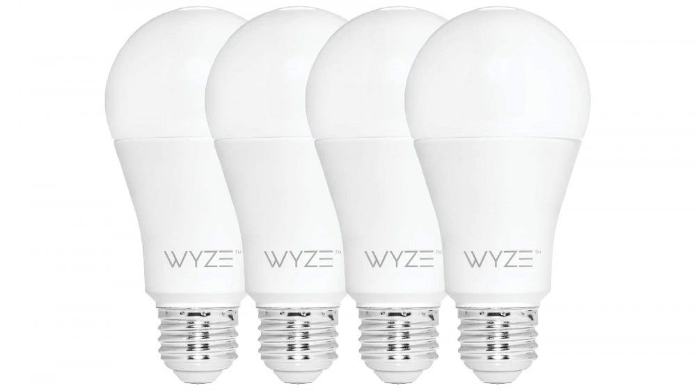 Four Wyze Bulbs tunable white