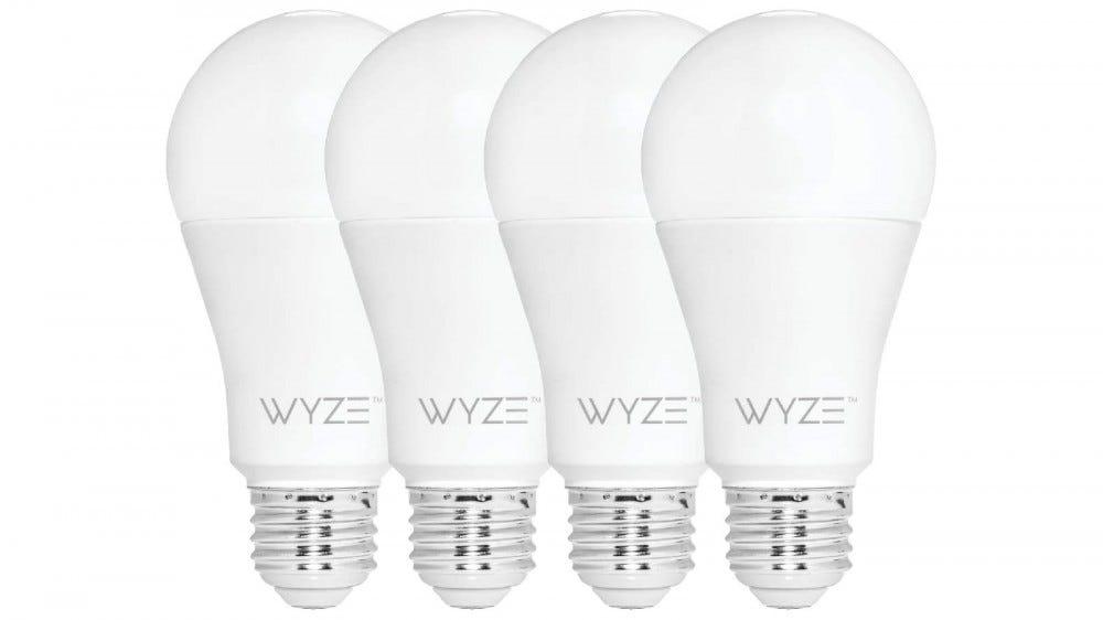 Four Wyze Bulbs tunable white