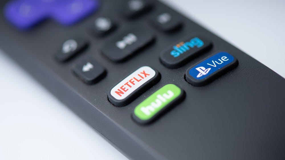 A photo of the Roku remote control.
