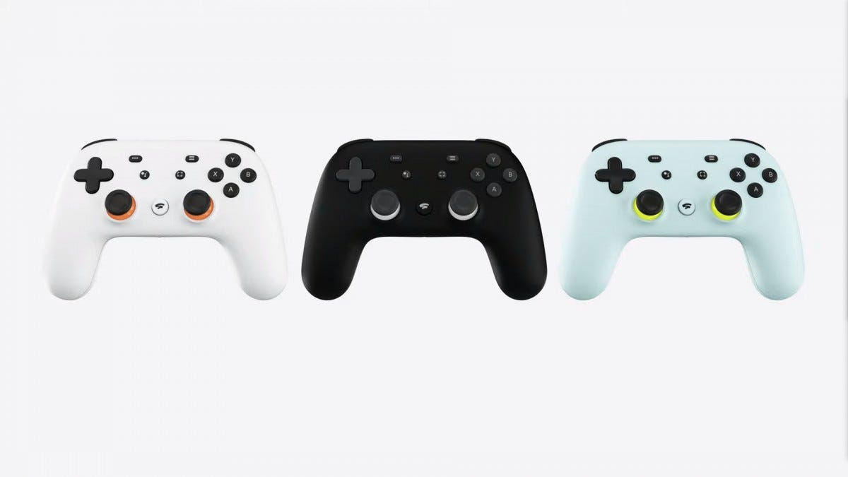 The Stadia controller connects directly to game servers over Wifi.