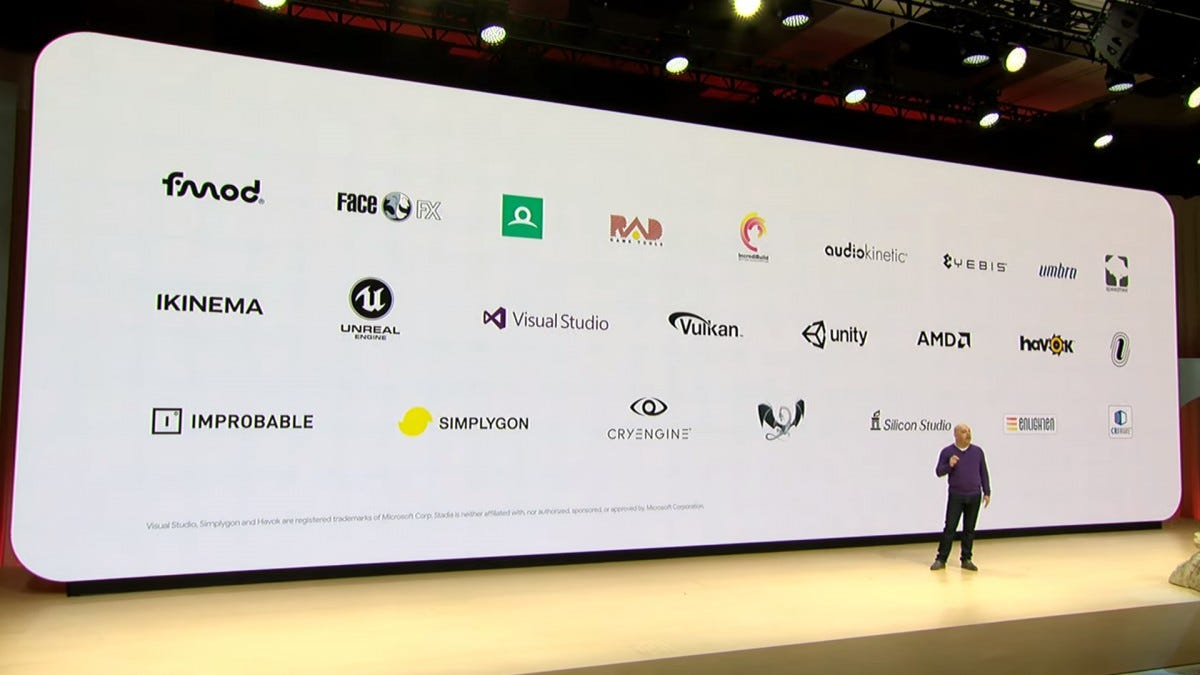 Stadia already works with the industry's most popular software tools.