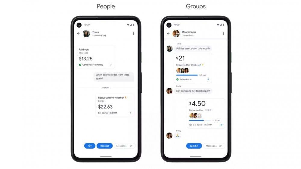 Google Pay tab