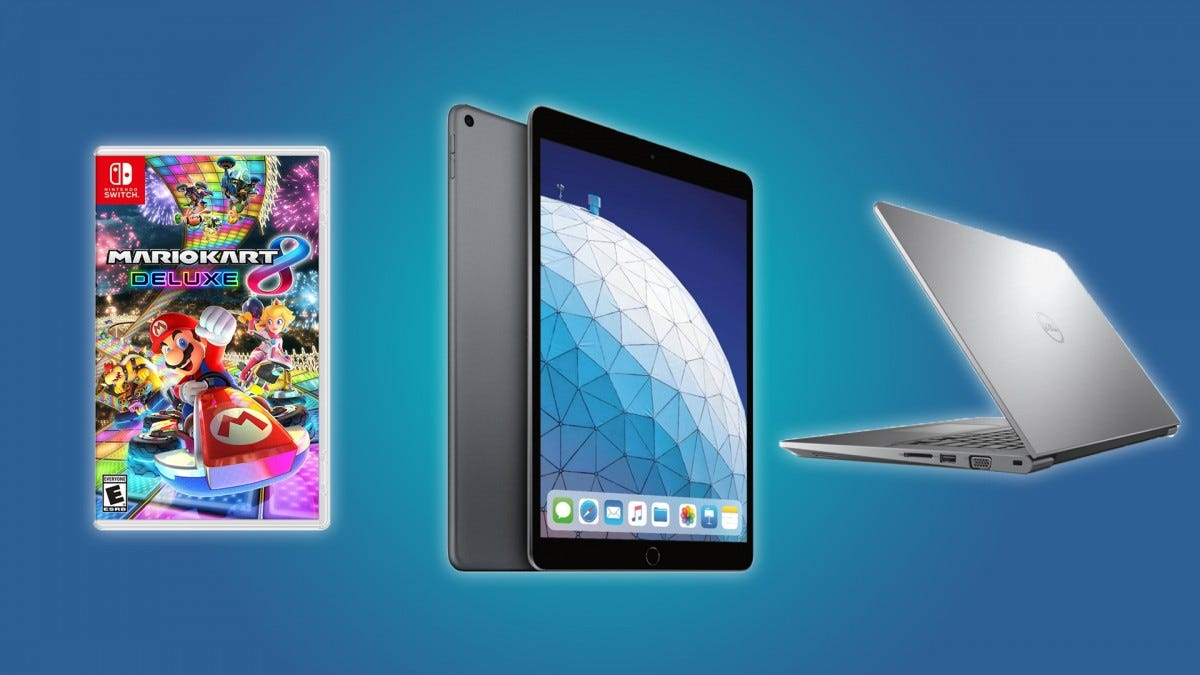 Mario Kart 8, the Apple iPad Air, and the Dell Vostro 14