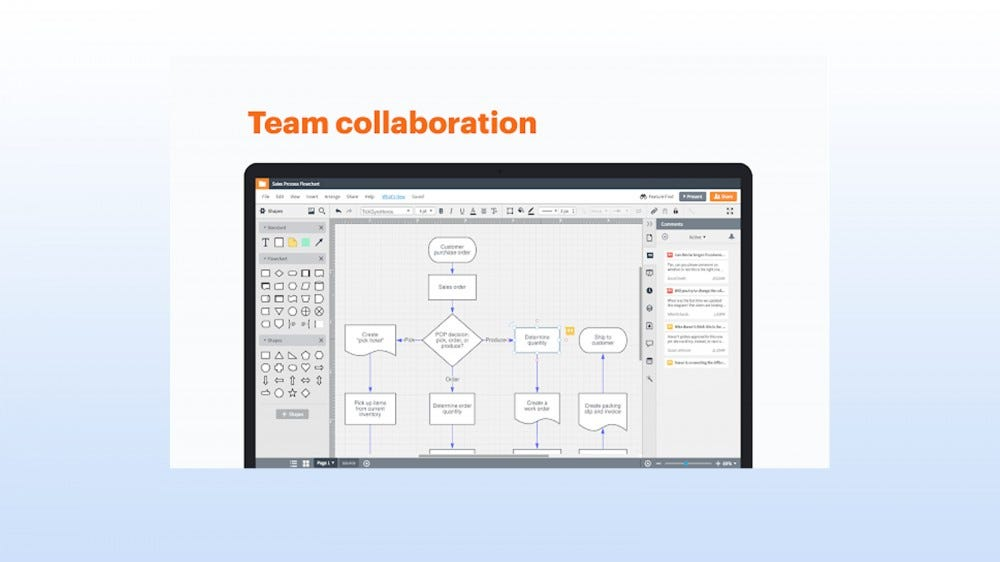 Lucidchart Diagrams add-on for creating infographical charts