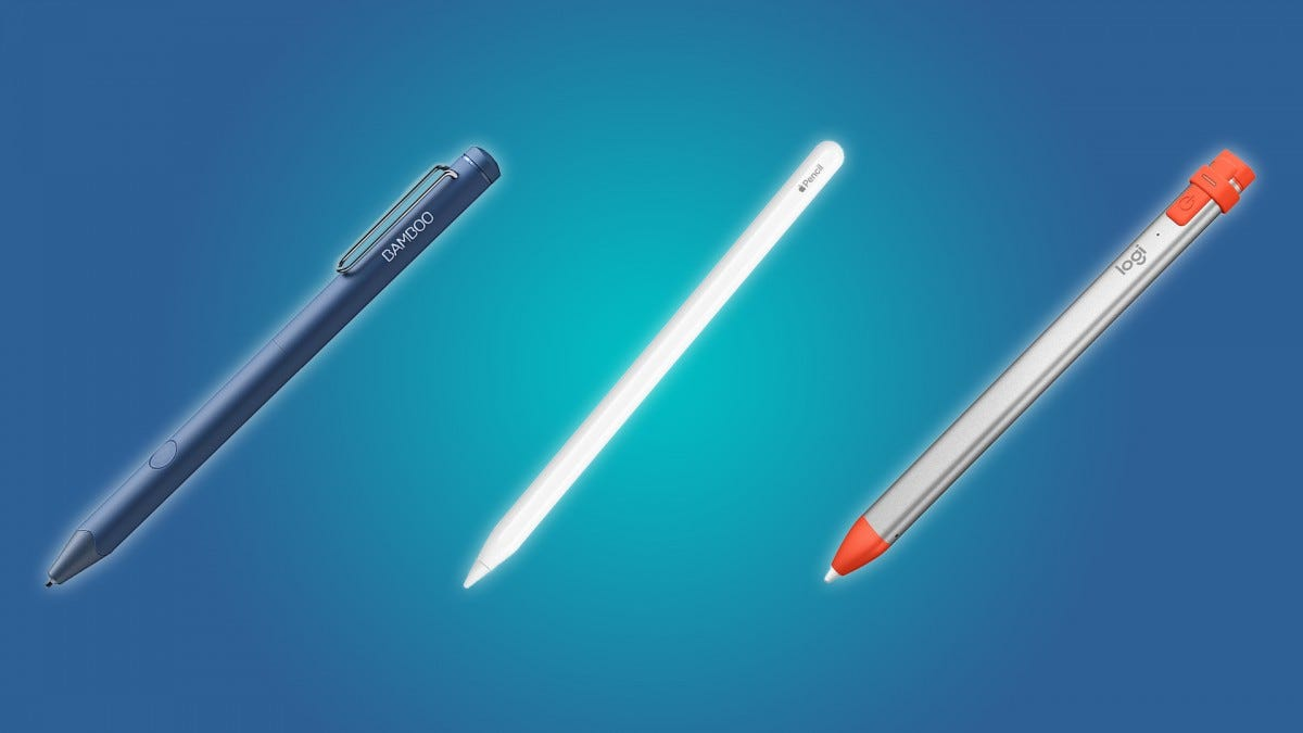 The Apple Pencil, the Bamboo Sketch, and the Logitech Crayon