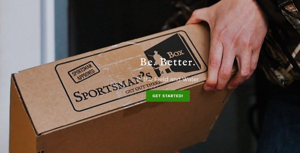The Sportsman's Box best subscription box for hunting and fishing bait tackle hunting accessories apparel game cameras