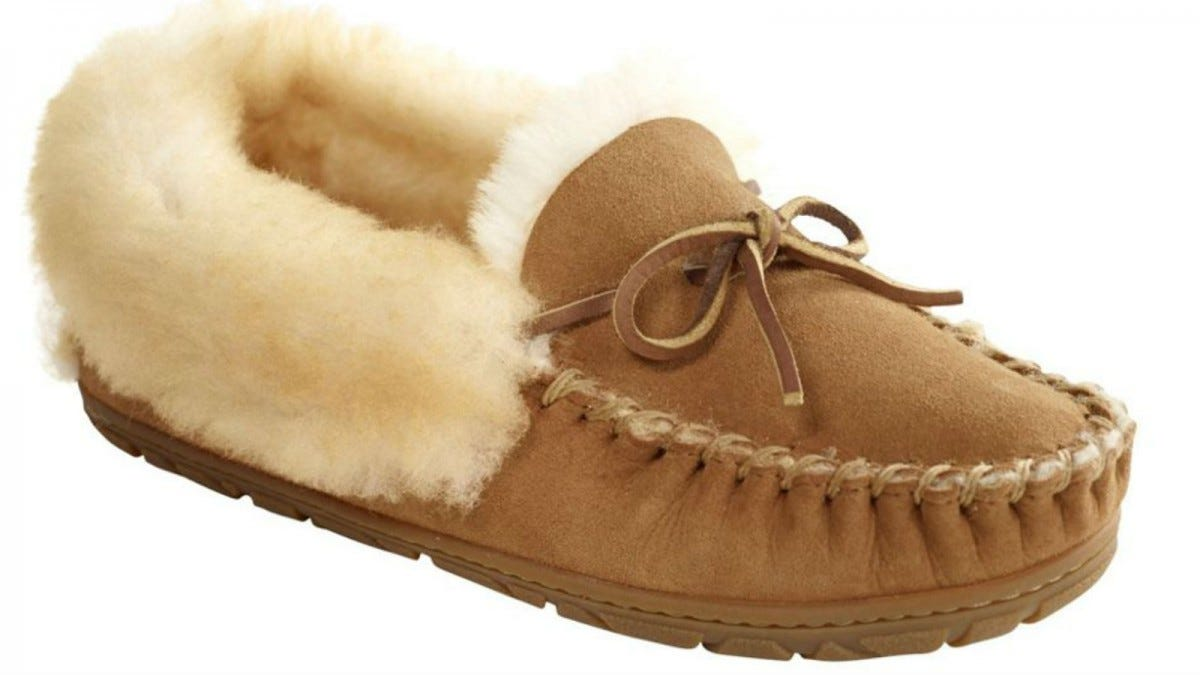 One L.L.Bean Wicked Good Slipper in brown.
