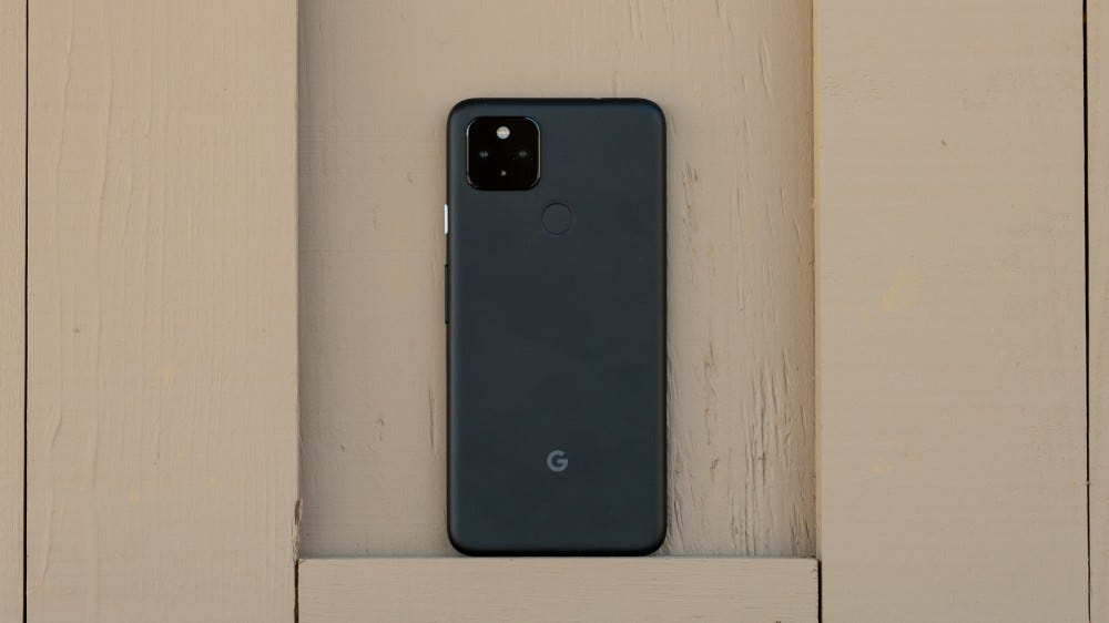Pixel 4a 5G from the rear