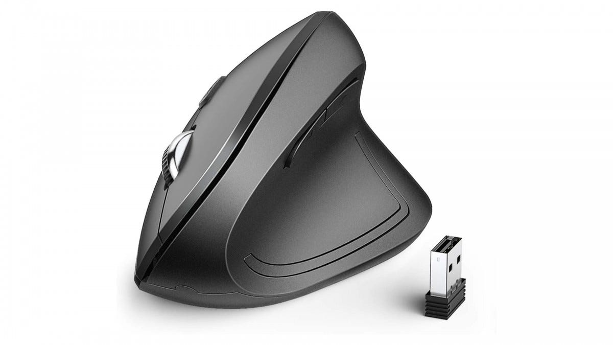 A photo of the iClever Vertical Mouse