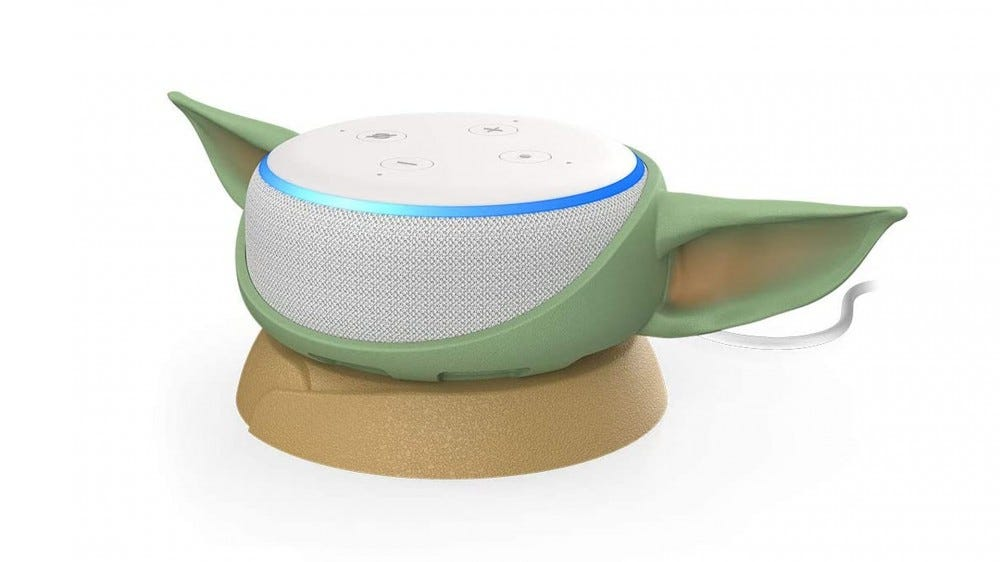 Otterbox silicone Yoda Ears for the Echo Dot.