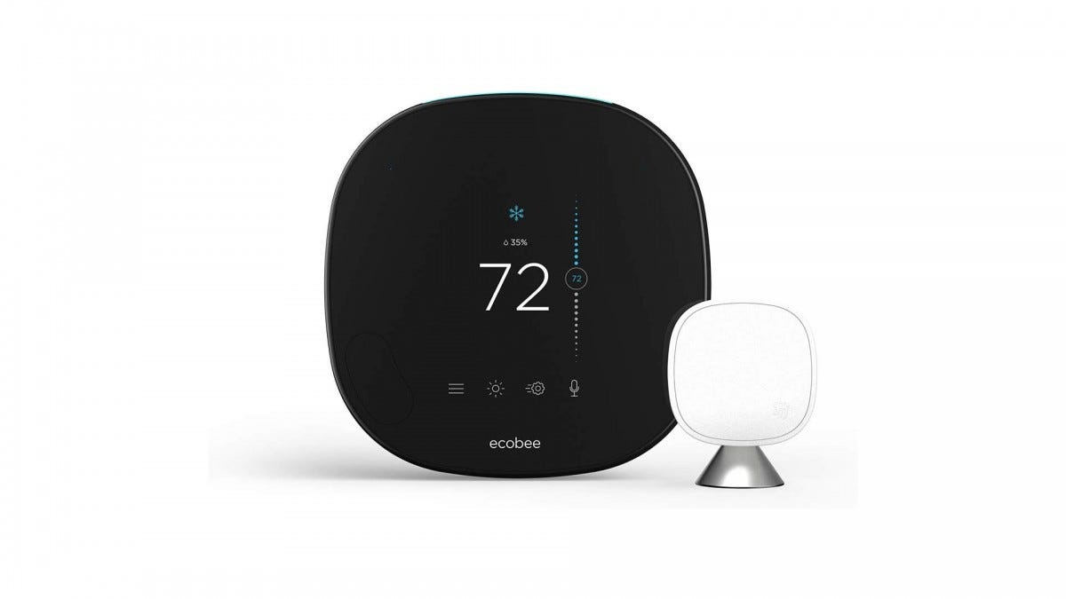 A photo of the ecobee SmartThermostat with Voice Control