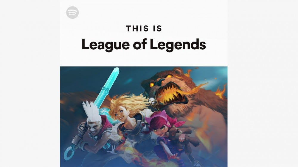 An illustration of the 'This Is League of Legends' Spotify playlist.