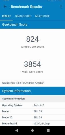 Blu G9 Geekbench
