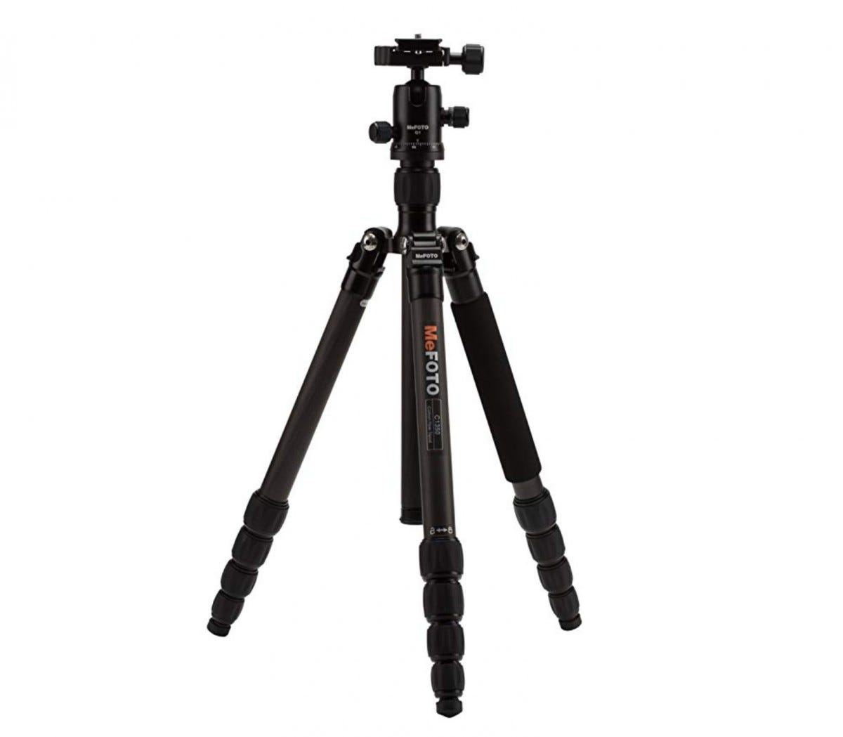Black travel tripod