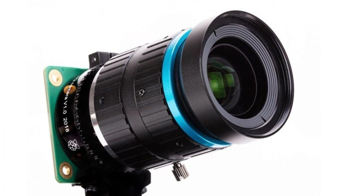 A Rasbperry Pi High Quality Camera with a telephoto lens