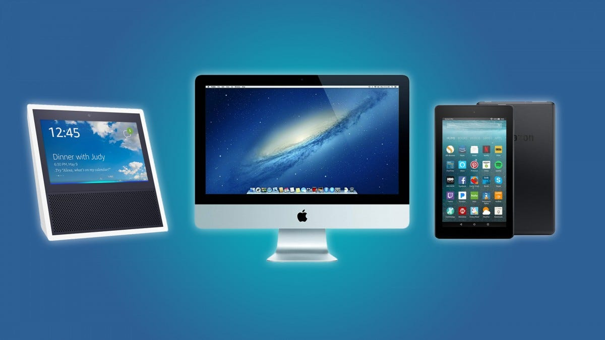 The Echo Show, the 2013 iMac, and the Fire 7 Tablet