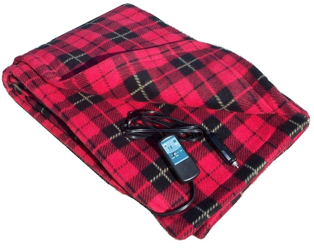 Best Electric Blanket For The Car Trillium Worldwide Heated Travel Fleece 37