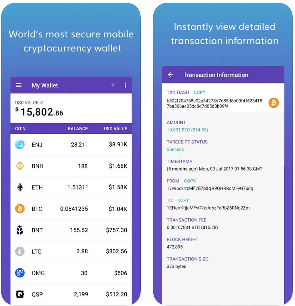 cryptocurrency price tracker app