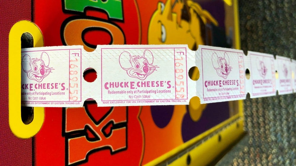 Chuck E. Cheese tickets