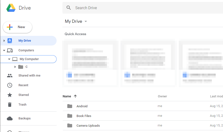 Google Drive web interface.