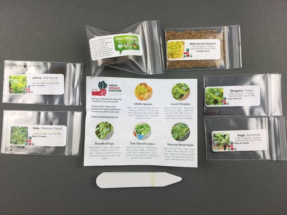 Urban Organic Gardener Subscription Box