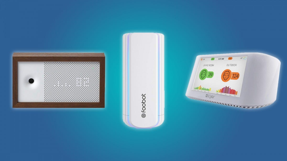 The Awair, Foobot, and IQAir air quality monitors