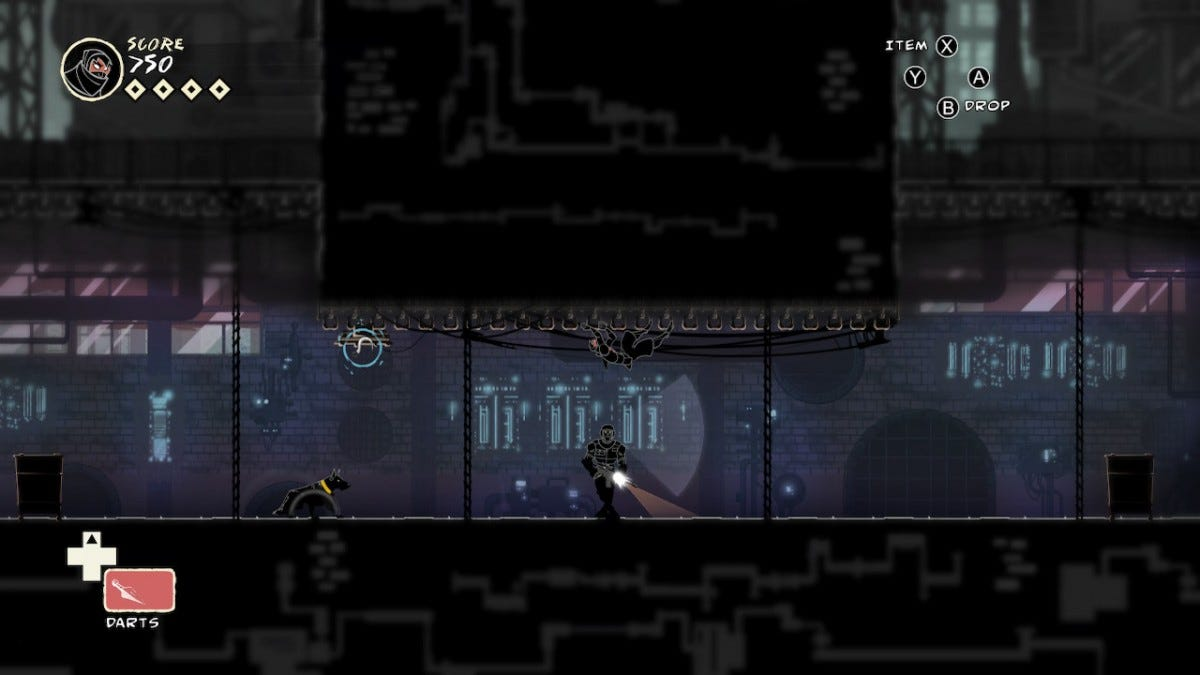game screen from Mark of the Ninja