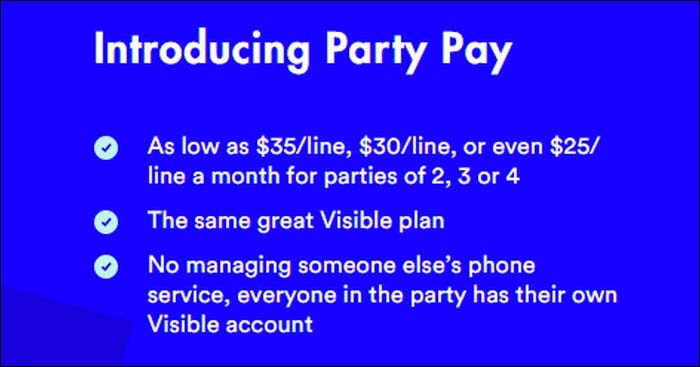 Visible Party Pay