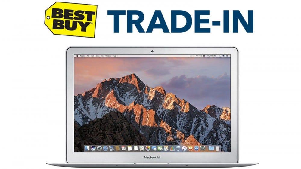 Best Buy Trade In Program with Image of MacBook