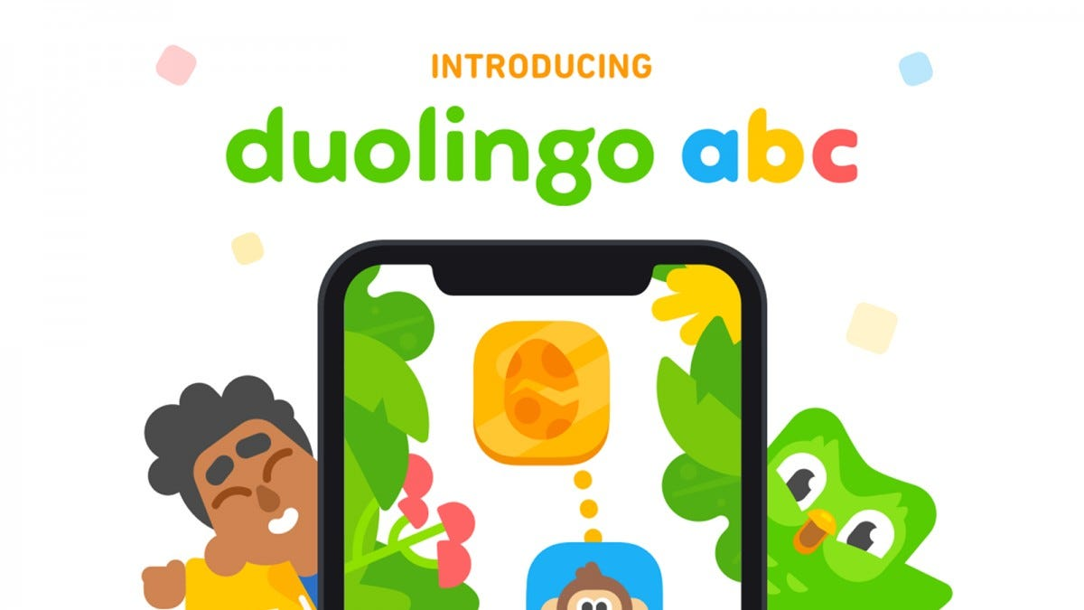 The Duolingo ABC app on an iPhone