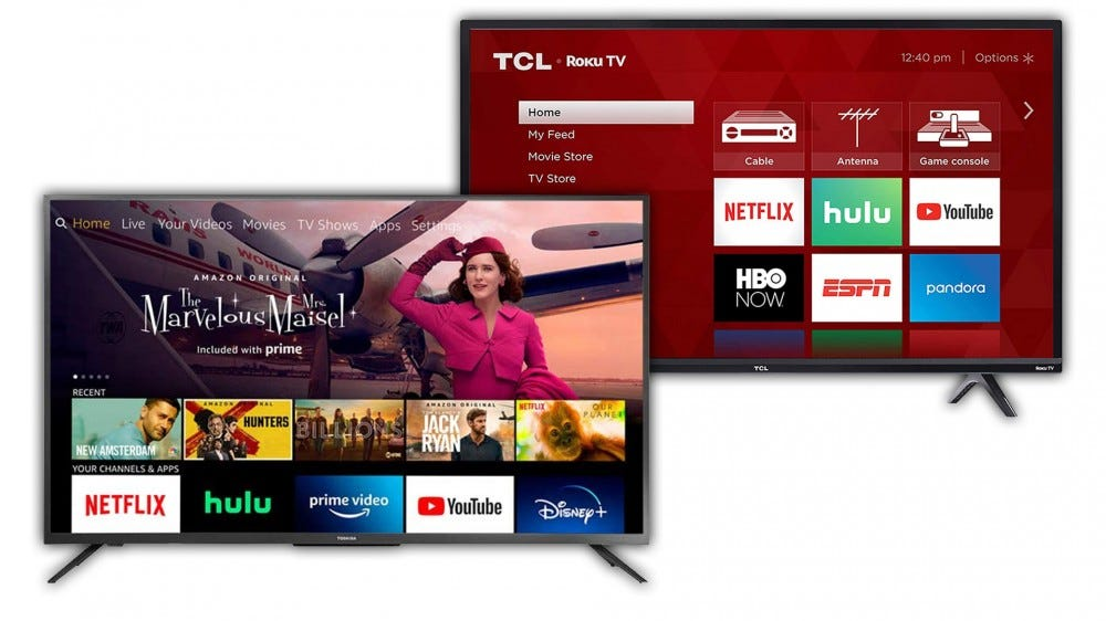 TCL Roku TV and Toshiba Amazon Fire TV