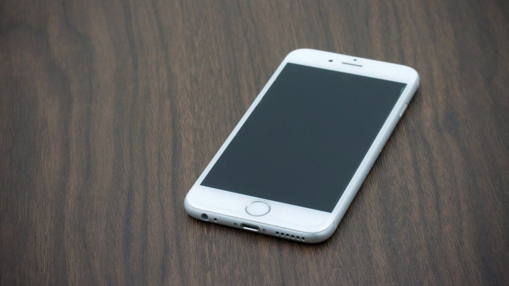 iPhone 6 on table