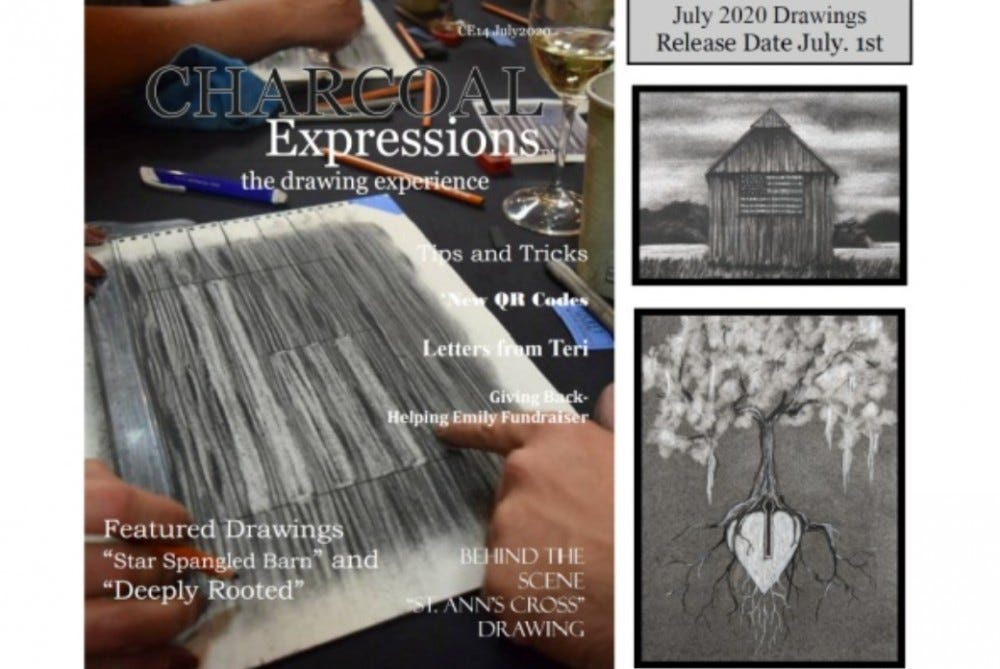 Charcoal Expressions best monthly art supply subscription box for charcoal drawings charcoal medium art