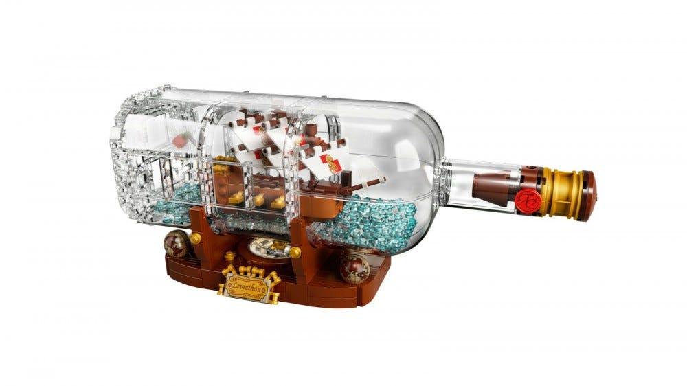 LEGO Ötletek szállítása palackban