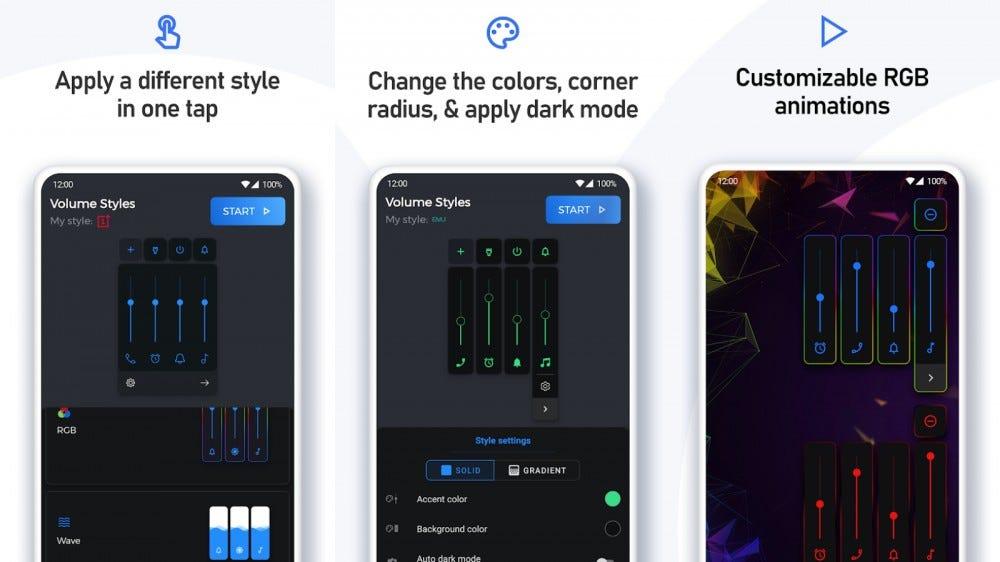 Volume styles