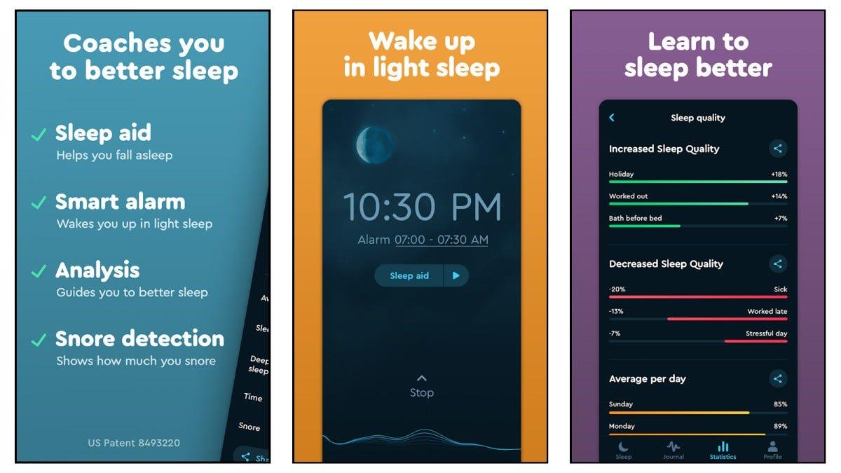 لقطات شاشة لتطبيق Sleep Cycle