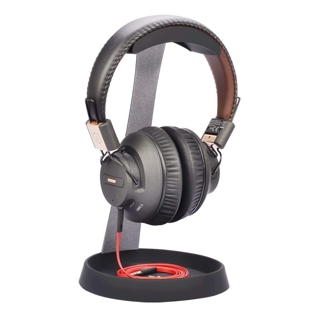 Avantree aluminum headphone stand with cable storage in base