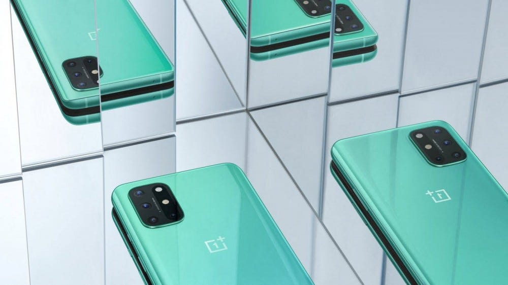 A green OnePlus 8T