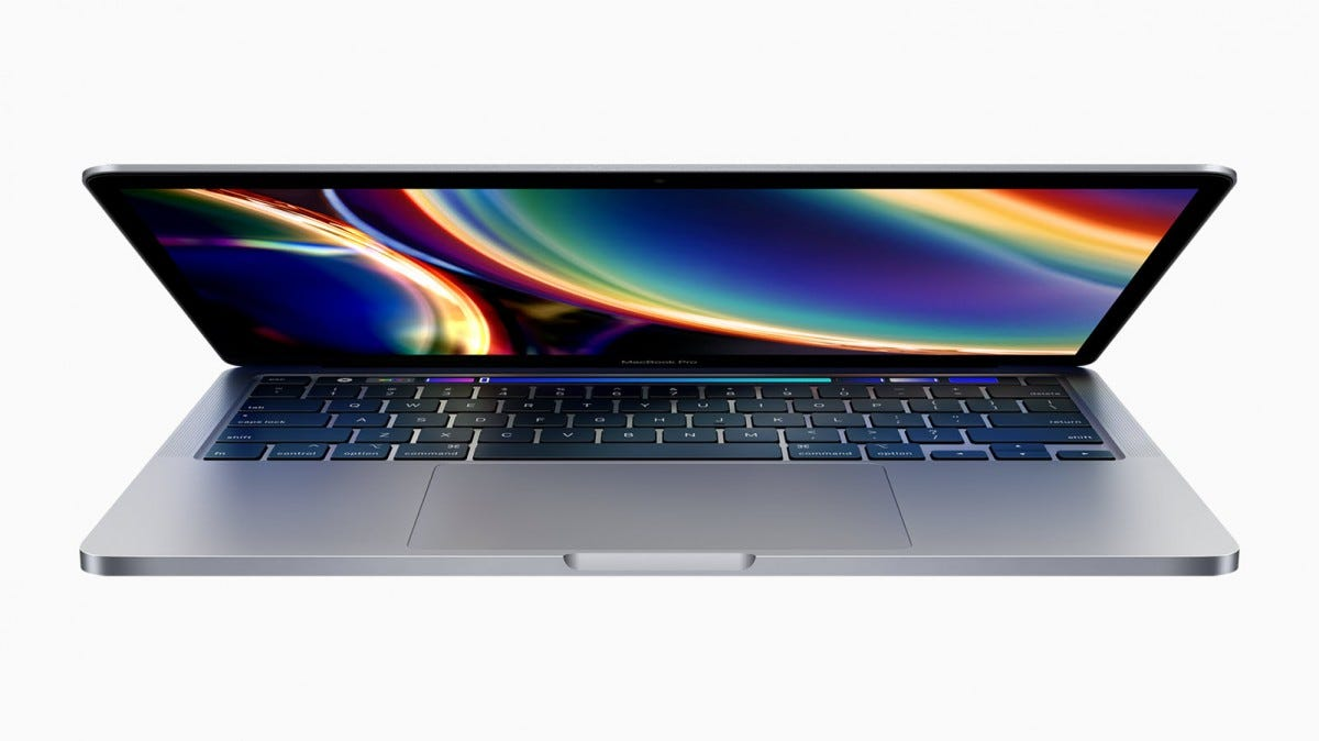 The new 13-inch Macbook Pro 13, partially open