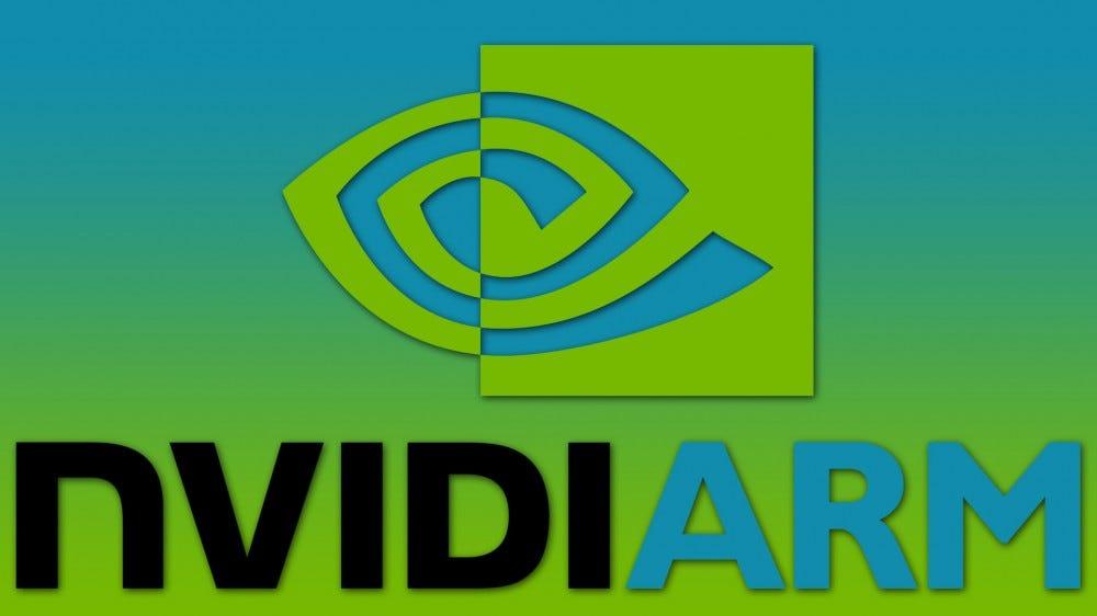 NVIDIA and ARM logos