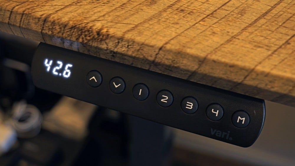 Vari desk control panel