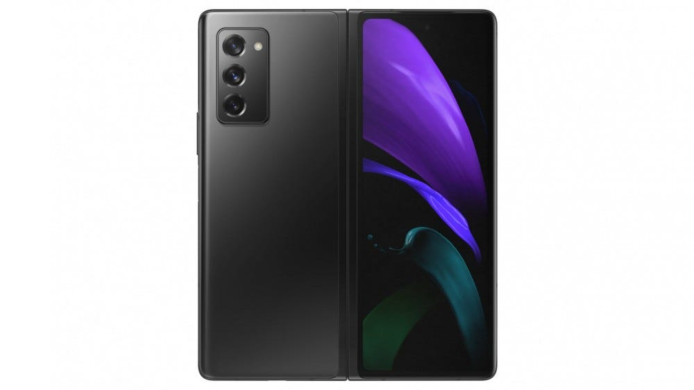 A Galaxy Z Fold 2 was developed to reveal the back.
