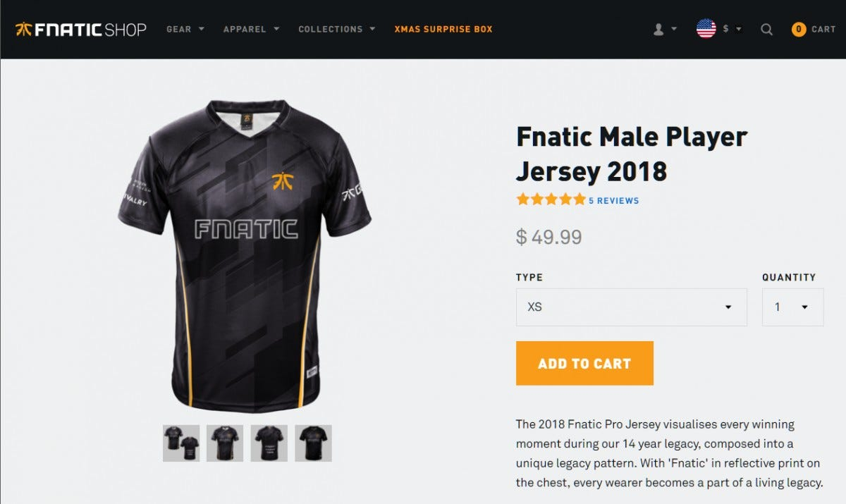 esports, jersey, fnatic, store,