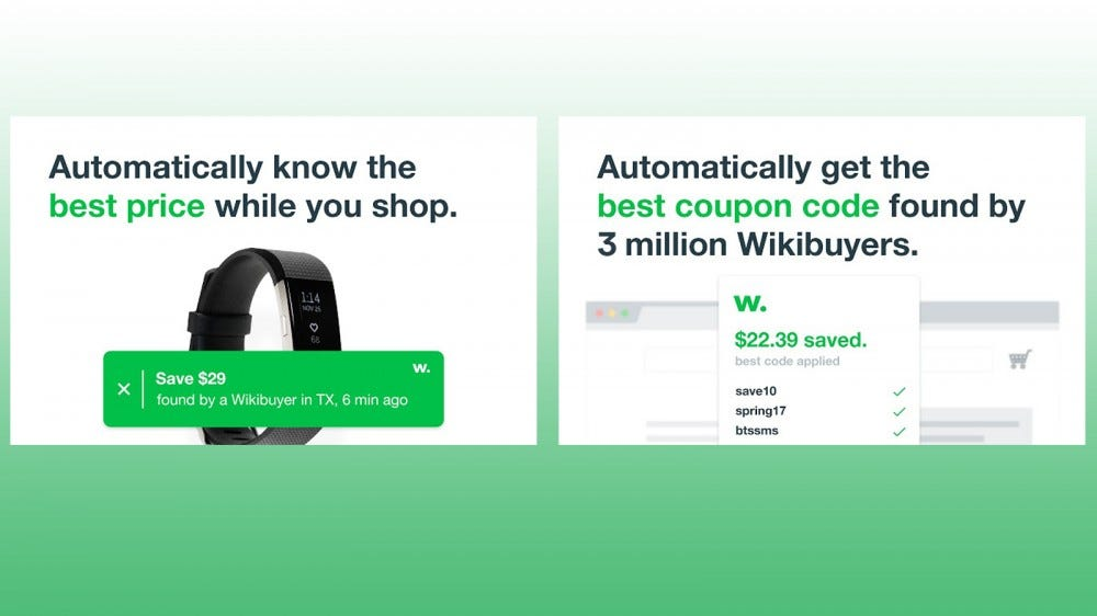 WikiBuy Chrome browser extension for seeing the latest deals while shopping, from other WikiBuy users